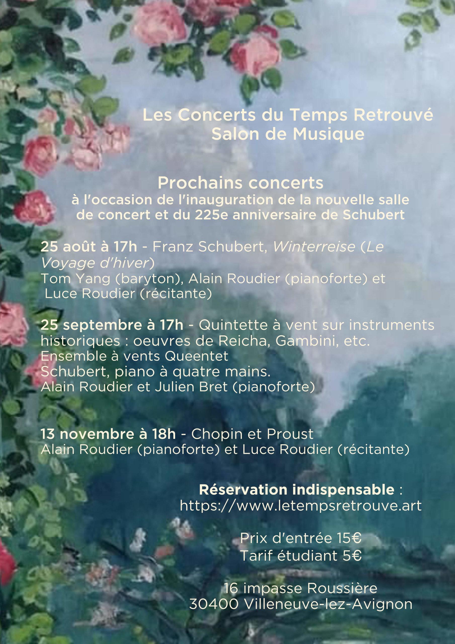 Affiche Prochains Concerts